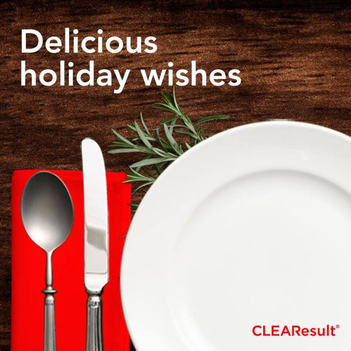 Sending delicious holiday wishes from our team atCLEAResult