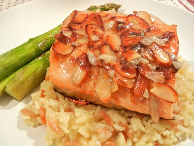 Almond Encrusted Salmon with Beurre BlancSauce