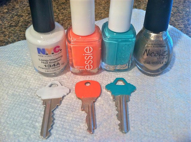 DIY: Nail Polish & House Keys Facelift Project