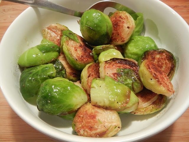 Caramelized Lemon Brussel Sprouts